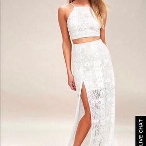 Lulus lace two-piece maxi dress